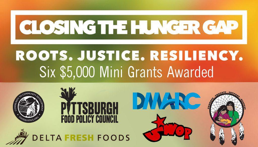 Closing the Hunger Gap Mini Grants Awarded